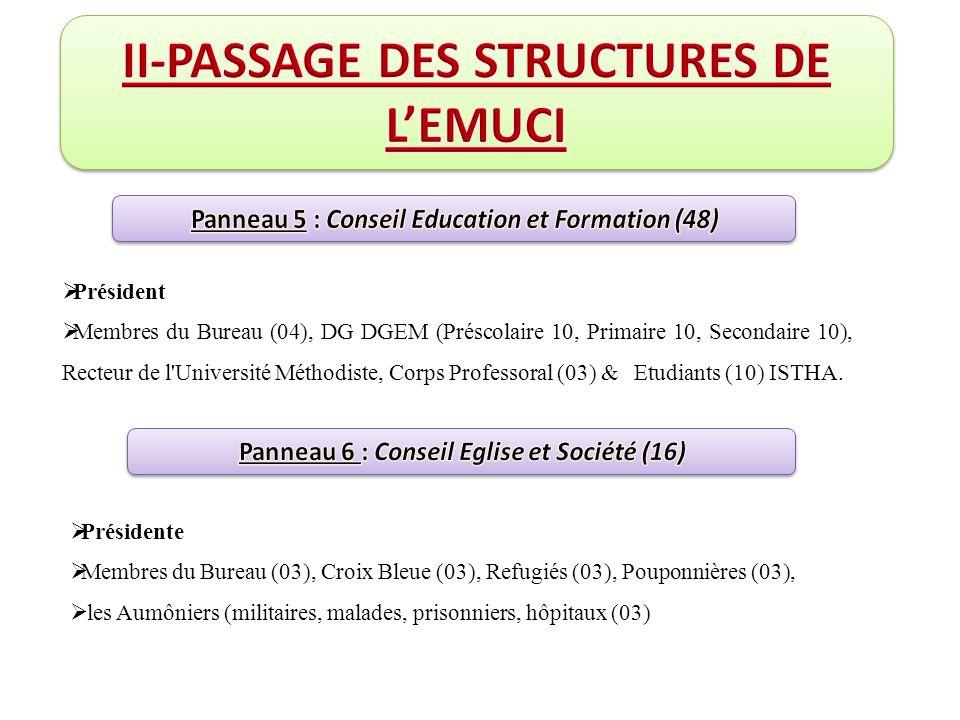 II-PASSAGE DES STRUCTURES DE L'EMUCI