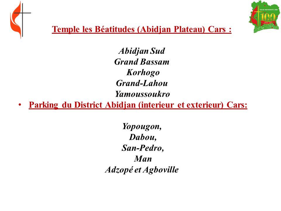 Temple les Béatitudes (Abidjan Plateau) Cars :