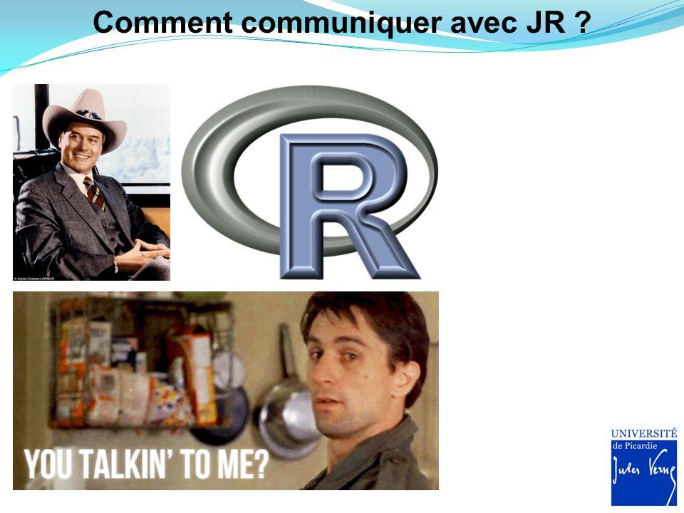 Comment communiquer avec JR
