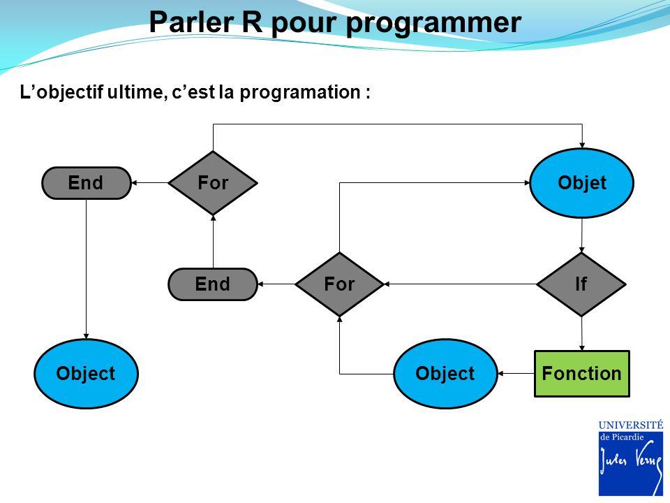 Parler R pour programmer