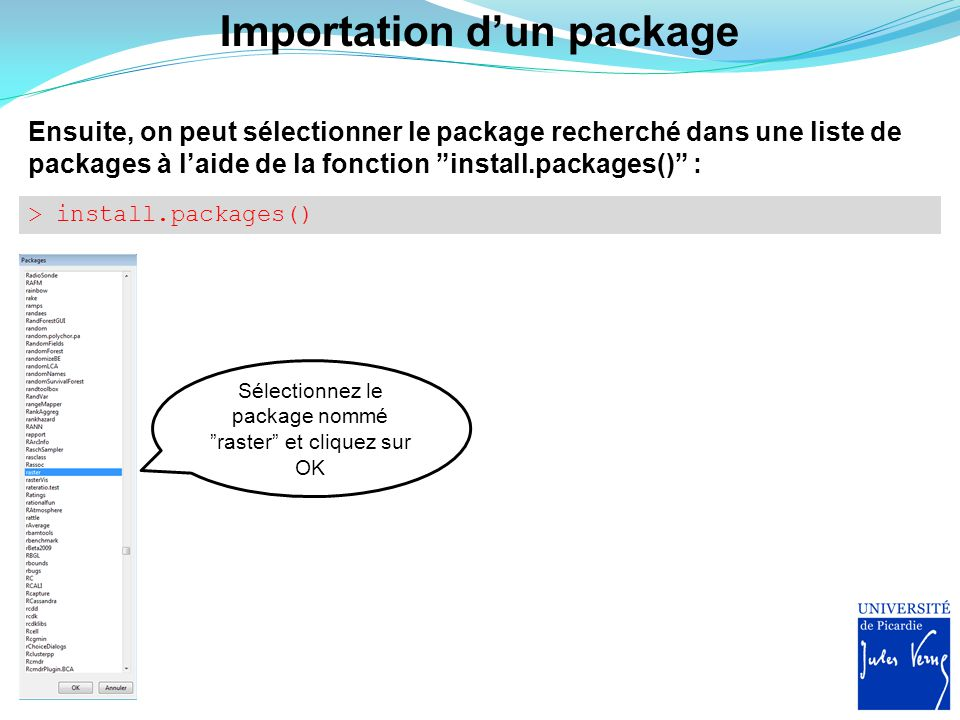 Importation d'un package