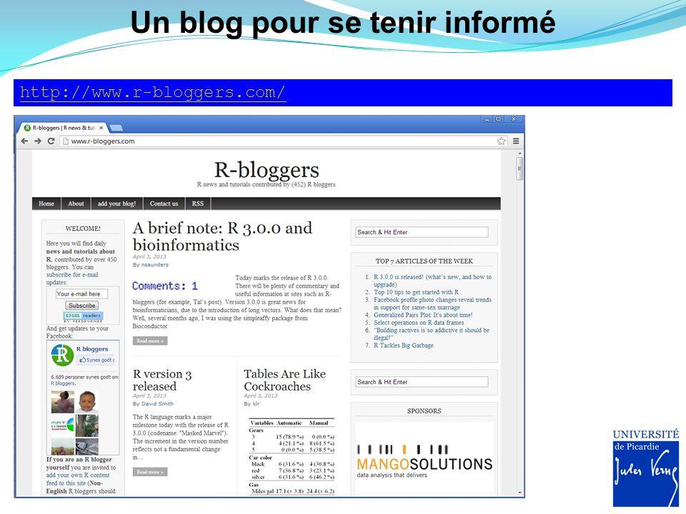 Un blog pour se tenir informé