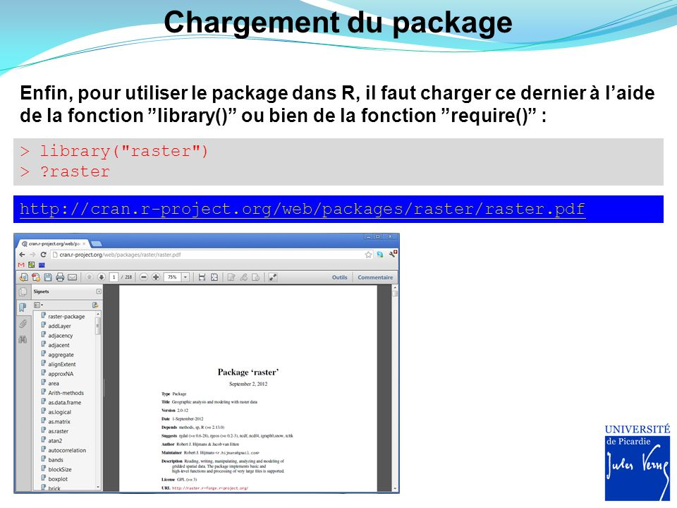 Chargement du package