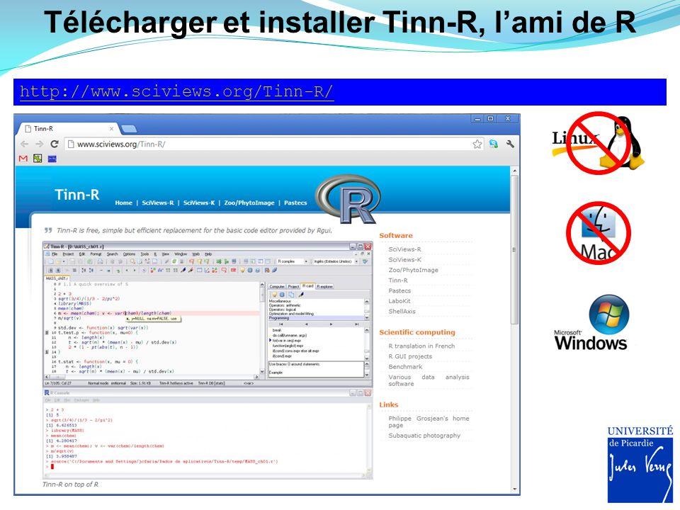 Télécharger et installer Tinn-R, l'ami de R
