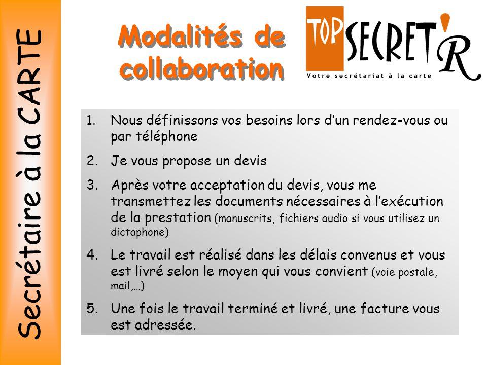 Modalités de collaboration