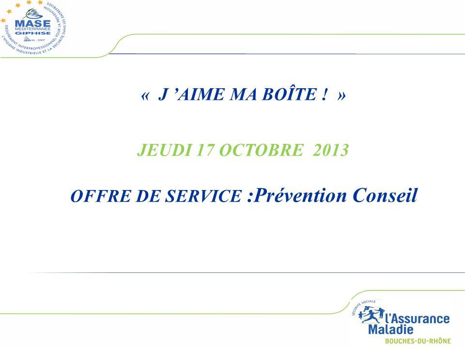 OFFRE DE SERVICE :Prévention Conseil