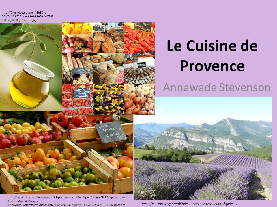 Le Cuisine de Provence Annawade Stevenson