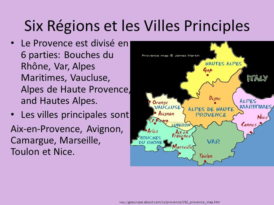 Six Régions et les Villes Principles