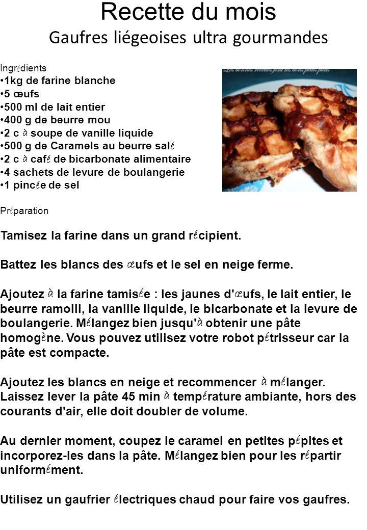 Recette du mois Gaufres liégeoises ultra gourmandes