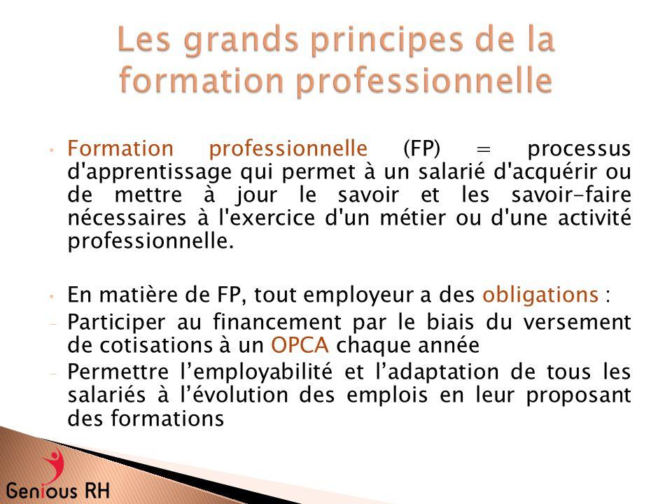 Les grands principes de la formation professionnelle