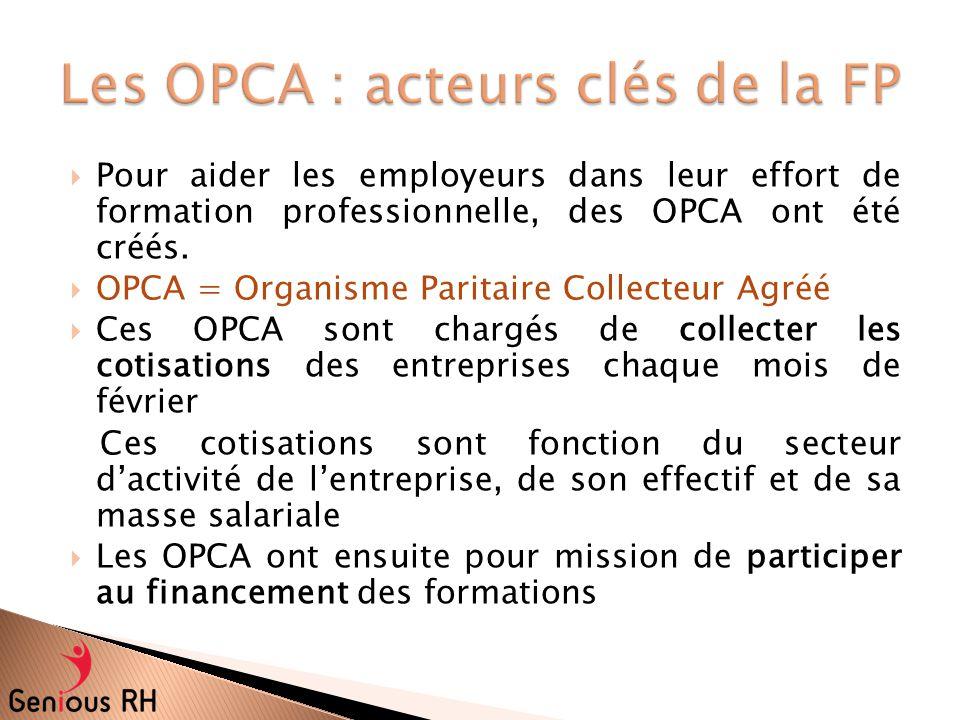 Les OPCA : acteurs clés de la FP