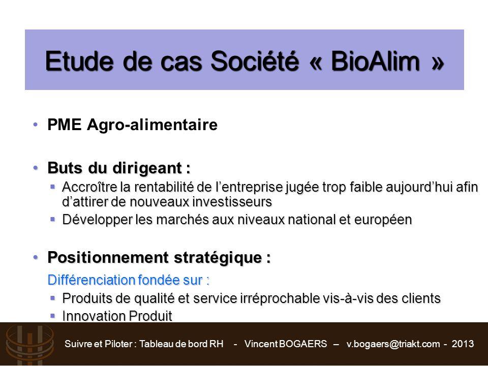 Etude de cas Société « BioAlim »