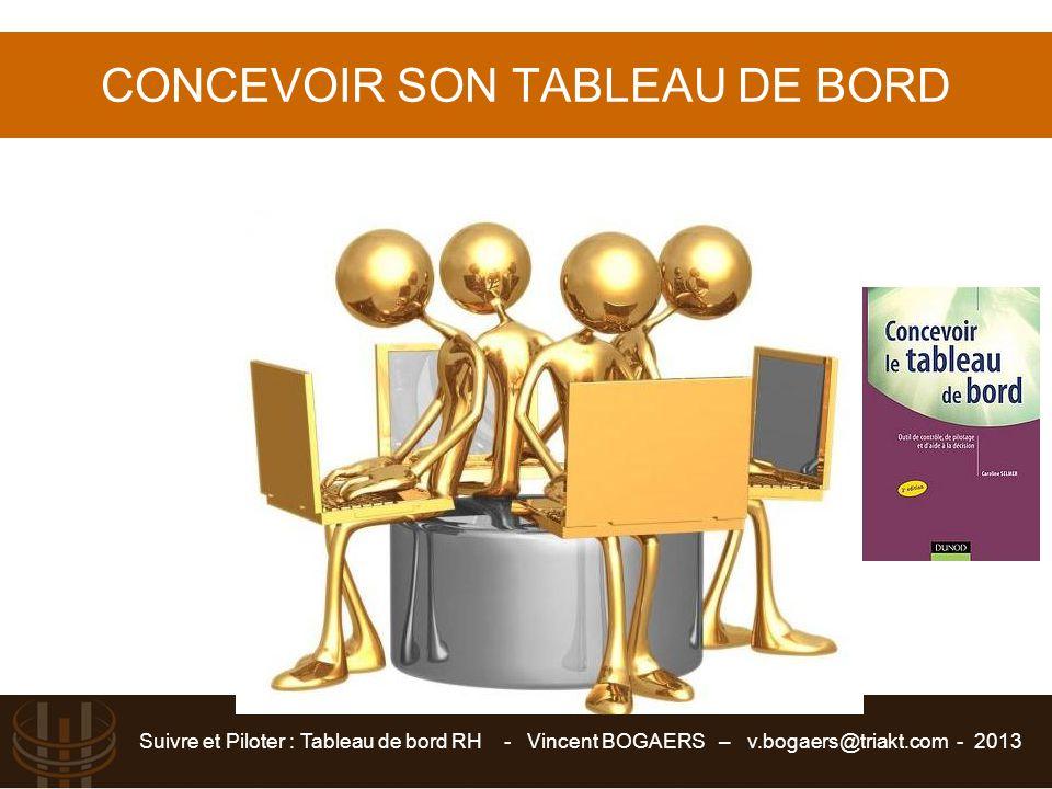 CONCEVOIR SON TABLEAU DE BORD
