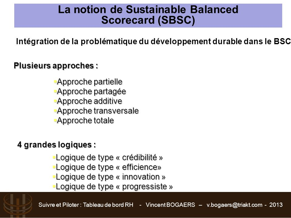 La notion de Sustainable Balanced