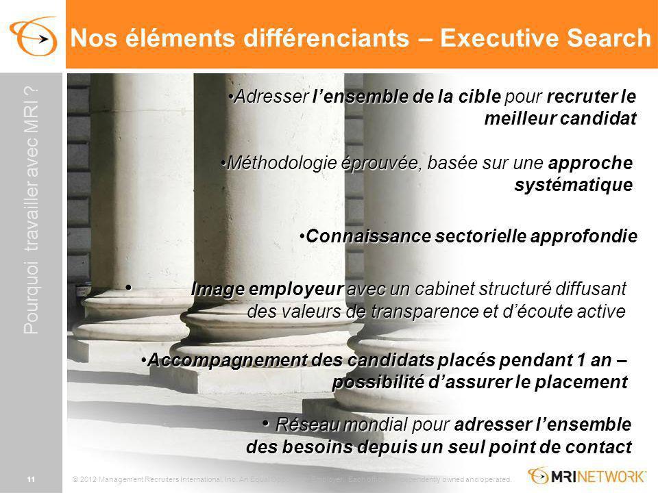Nos éléments différenciants – Executive Search