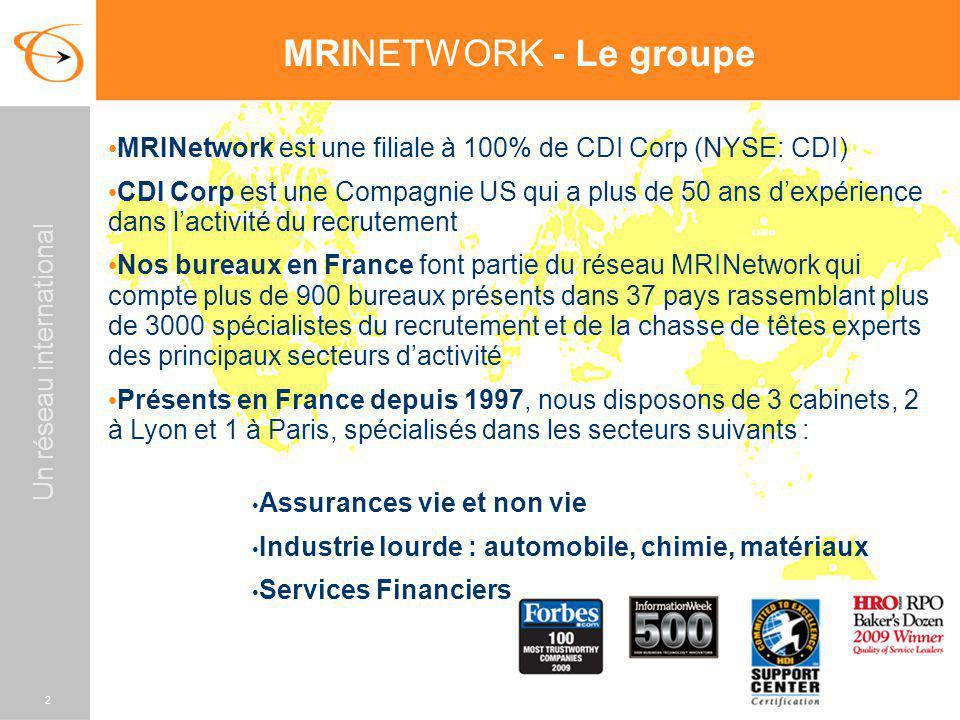 MRINETWORK - Le groupe MRINetwork est une filiale à 100% de CDI Corp (NYSE: CDI)