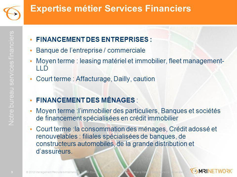 Expertise métier Services Financiers