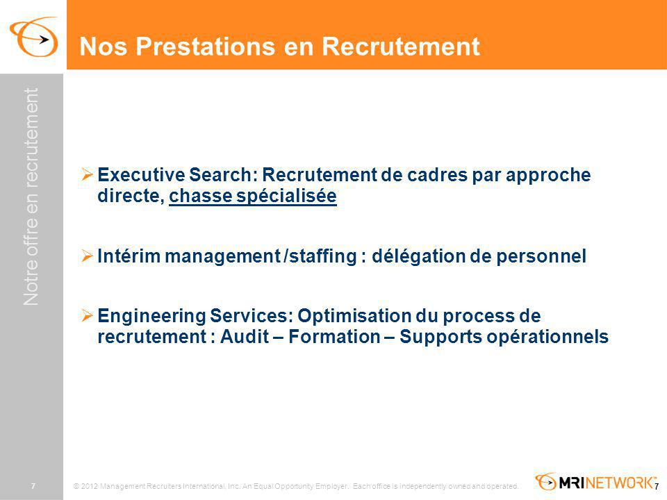 Nos Prestations en Recrutement
