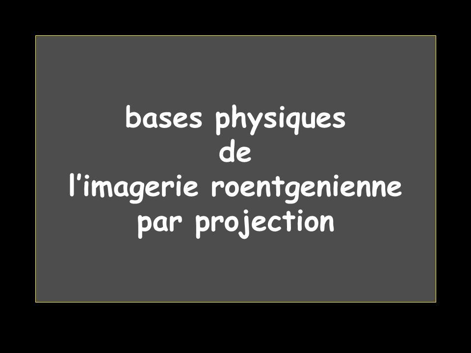 bases physiques de l'imagerie roentgenienne par projection