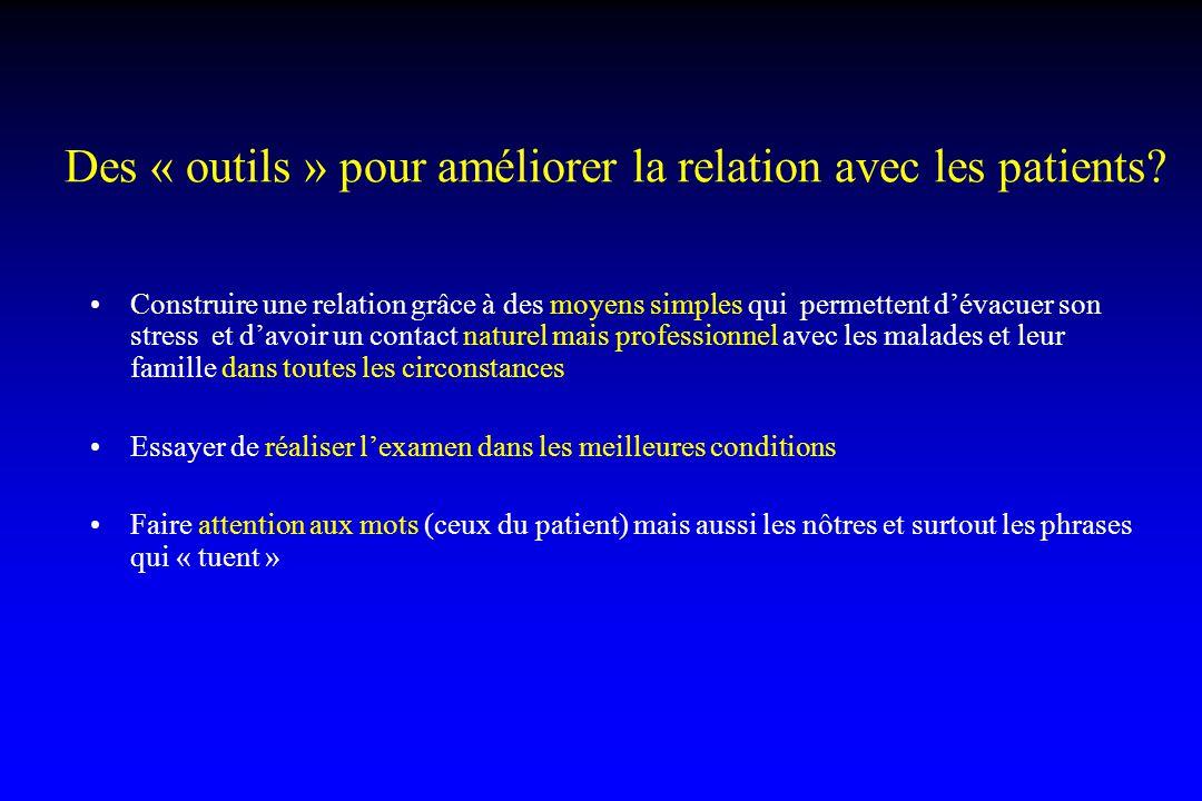 Des « outils » pour améliorer la relation avec les patients