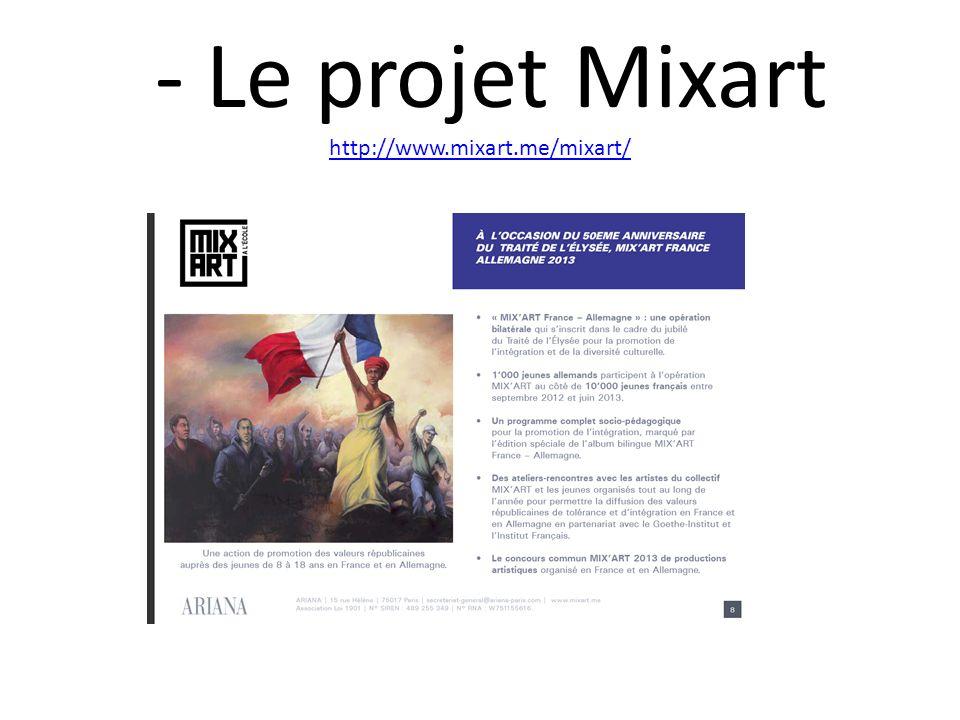 - Le projet Mixart http://www.mixart.me/mixart/