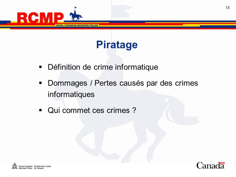Piratage Définition de crime informatique