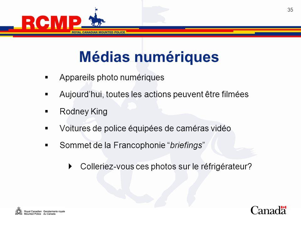 Médias numériques Appareils photo numériques