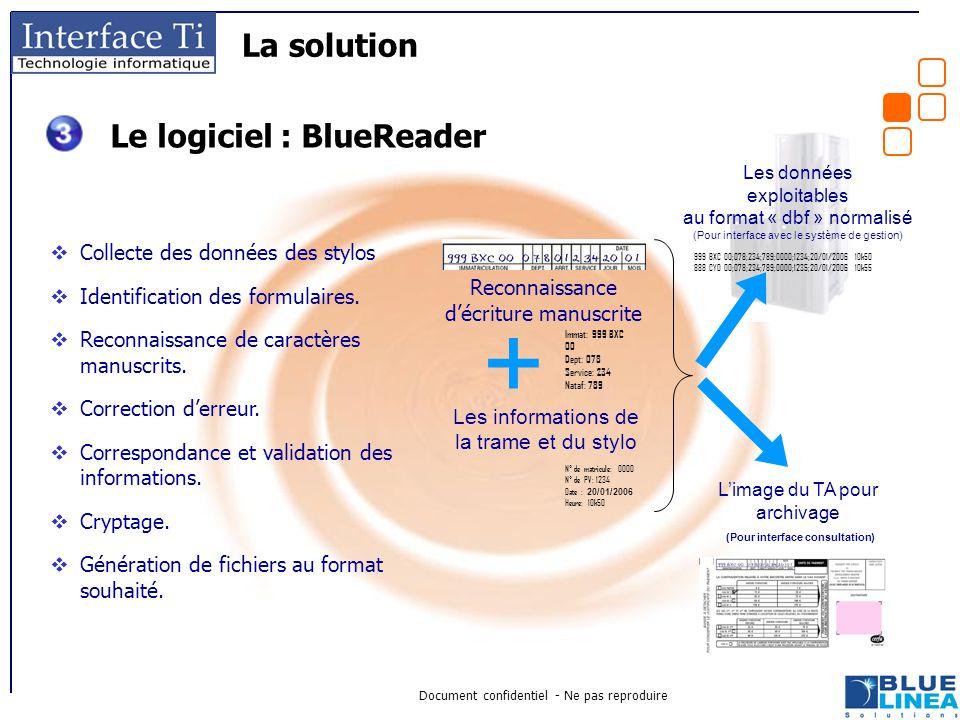 Le logiciel : BlueReader (Pour interface consultation)