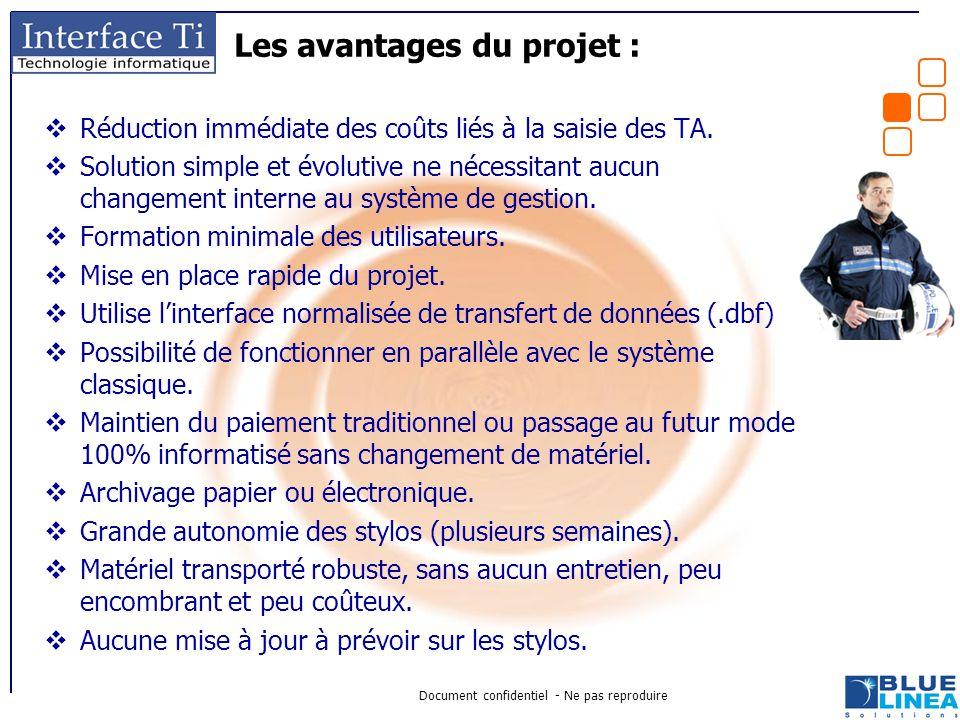 Les avantages du projet :