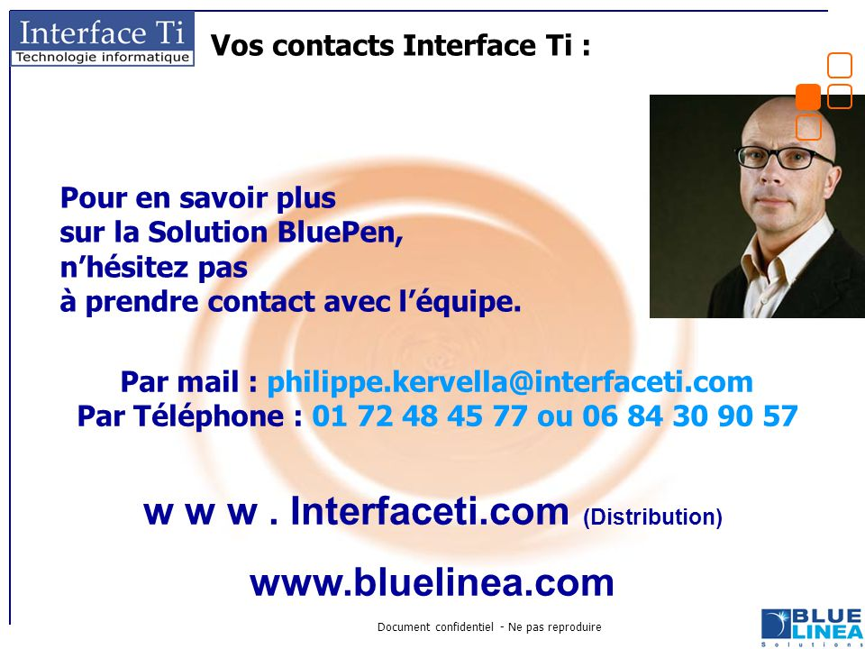 Vos contacts Interface Ti :