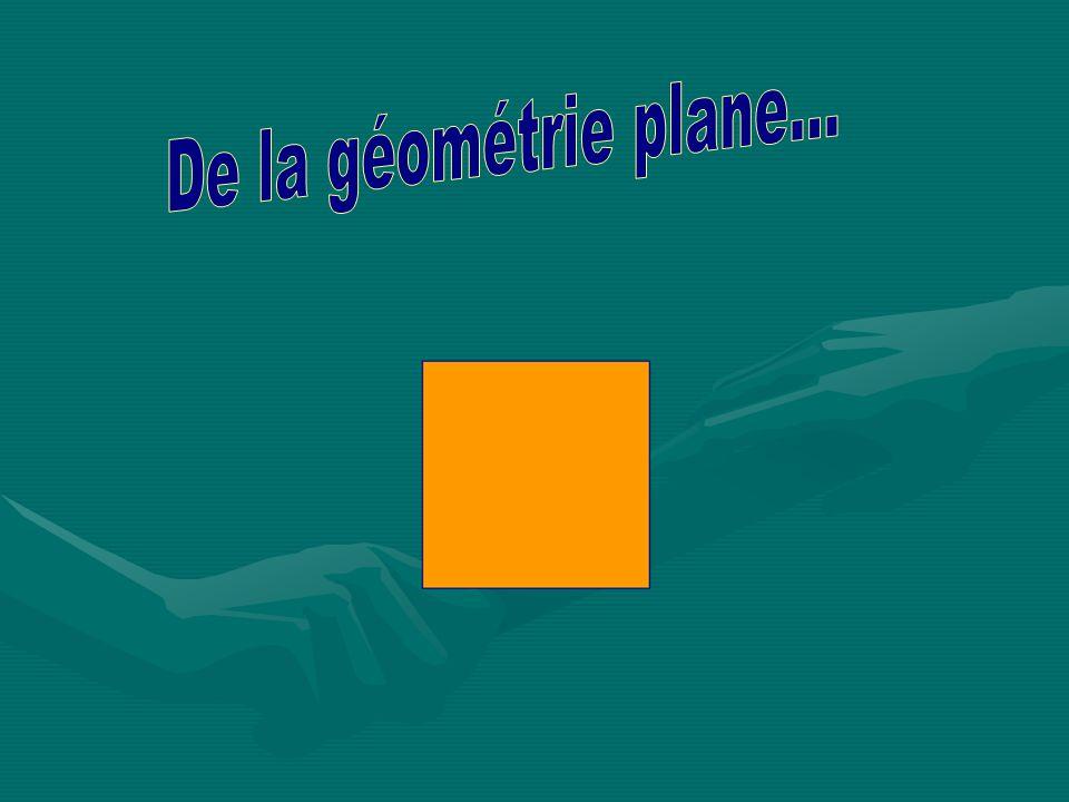 De la géométrie plane...