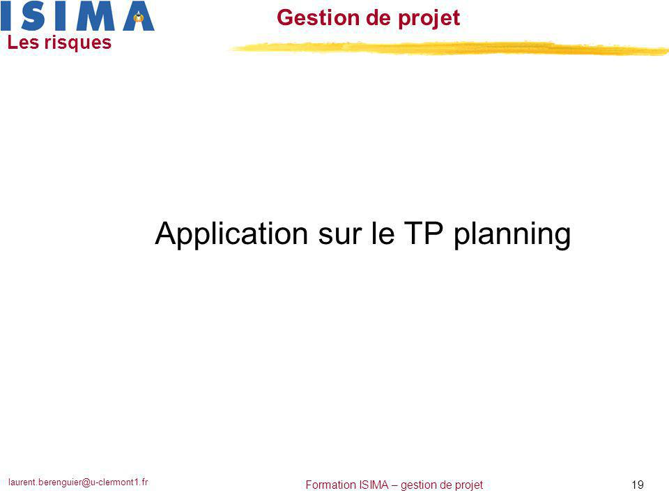 Application sur le TP planning