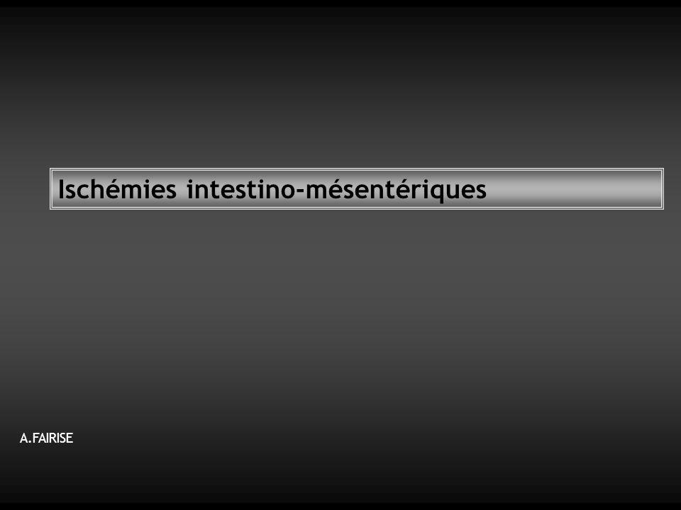 Ischémies intestino-mésentériques