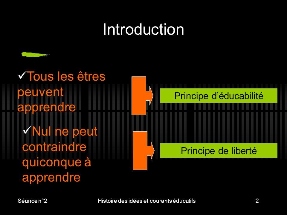 Introduction Tous les êtres peuvent apprendre