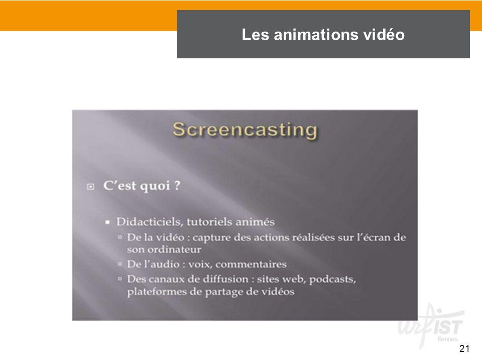 Les animations vidéo 21 21