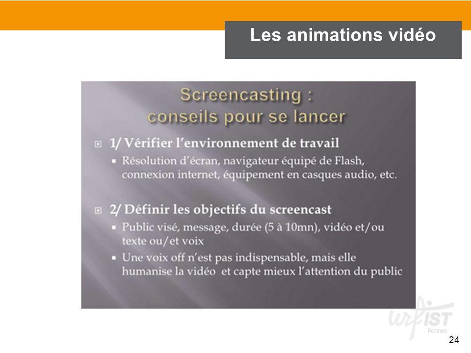 Les animations vidéo 24
