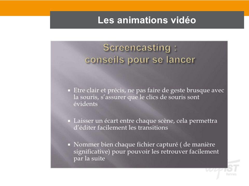 Les animations vidéo 1