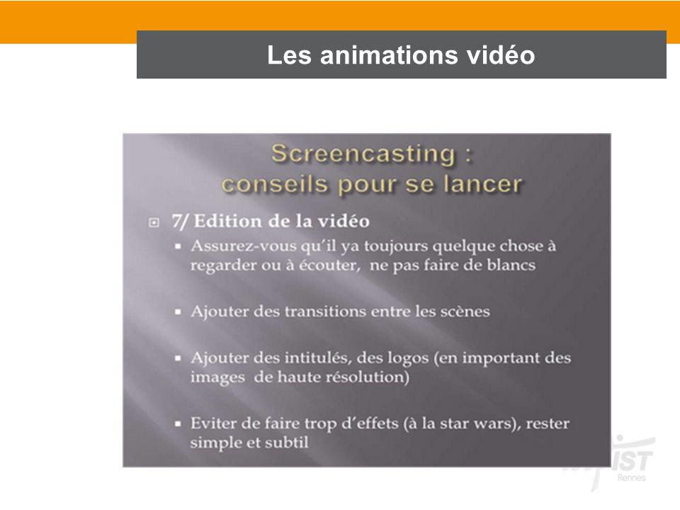 Les animations vidéo