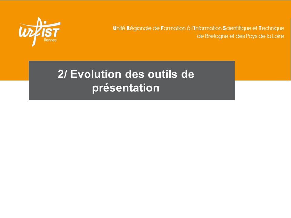2/ Evolution des outils de présentation