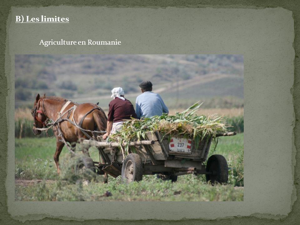 B) Les limites Agriculture en Roumanie
