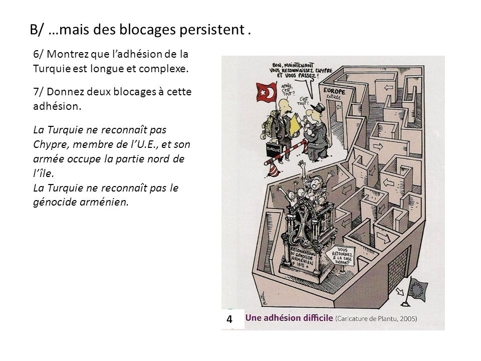 B/ …mais des blocages persistent .