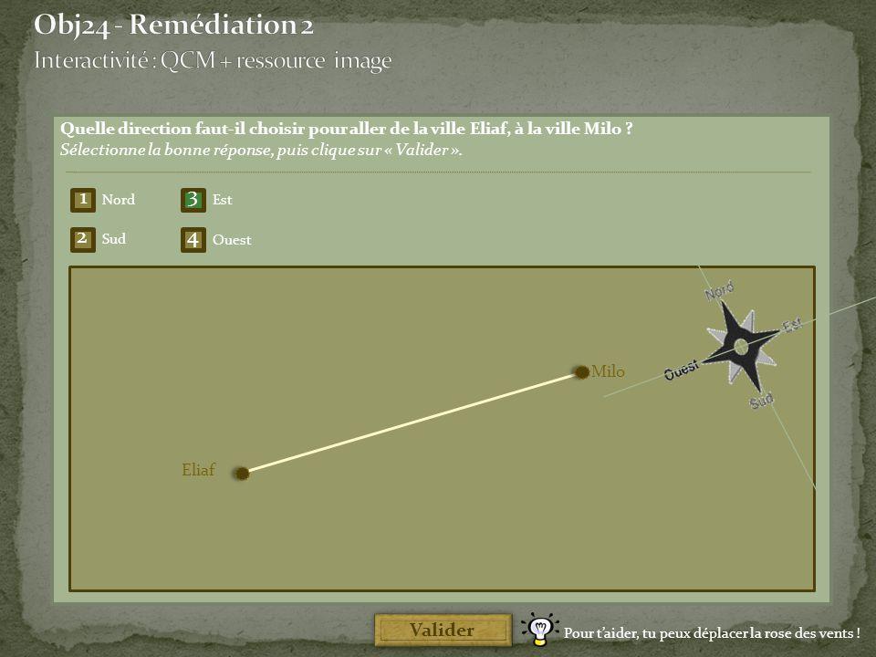 Obj24 - Remédiation 2 Interactivité : QCM + ressource image 1 3 2 4
