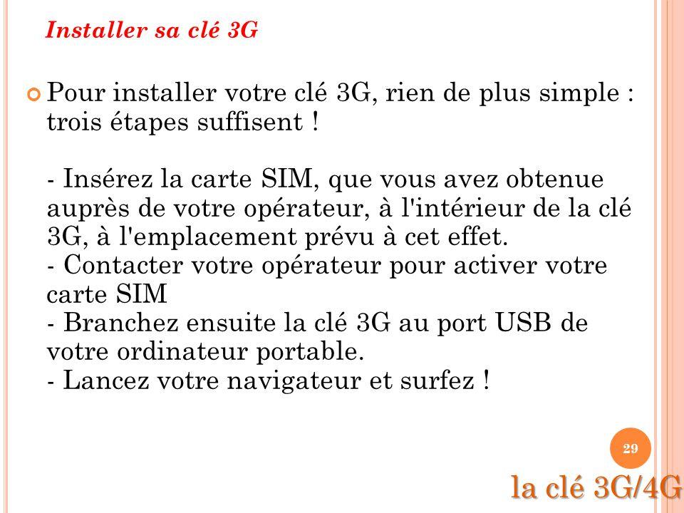 Installer sa clé 3G