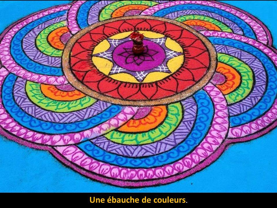 Une ébauche de couleurs.