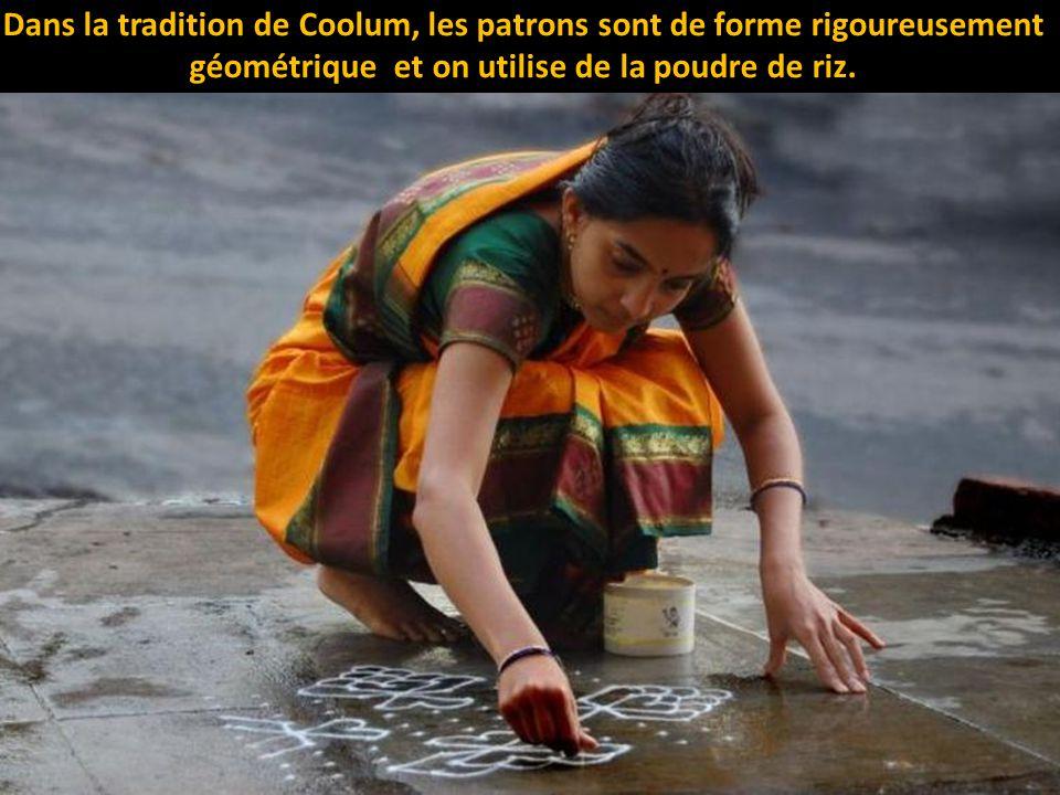Dans la tradition de Coolum, les patrons sont de forme rigoureusement géométrique et on utilise de la poudre de riz.