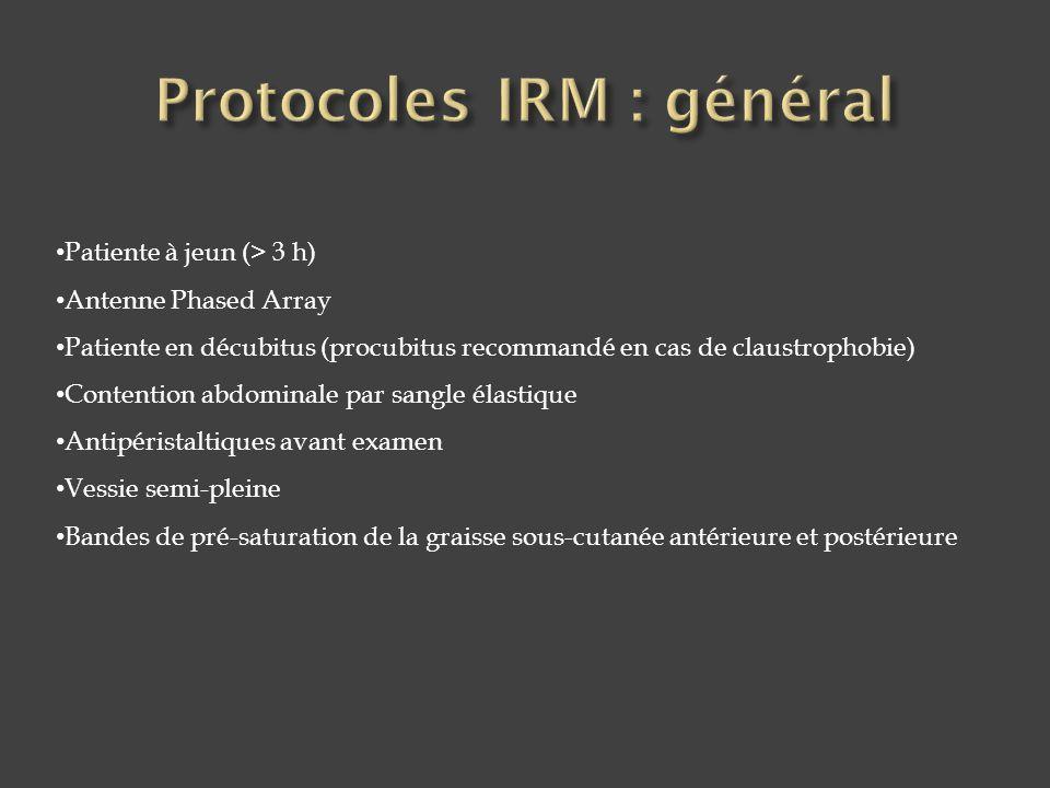 Protocoles IRM : général