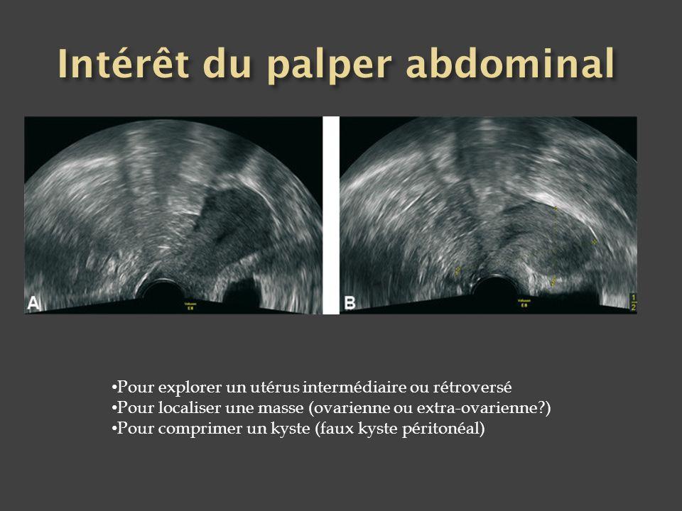Intérêt du palper abdominal