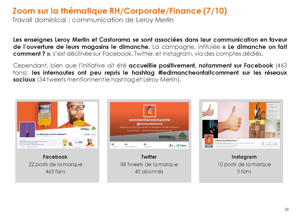 Zoom sur la thématique RH/Corporate/Finance (7/10)