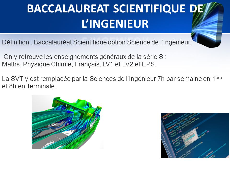 baccalaureat scientifique de l ingenieur ppt t l charger. Black Bedroom Furniture Sets. Home Design Ideas