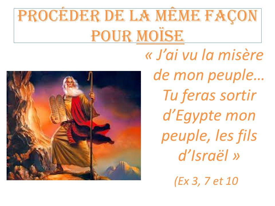 Procéder de la même façon pour Moïse